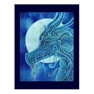 De blauwe fantasie van de Draak door Renee Lavoie Briefkaart