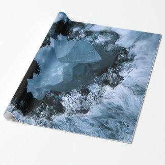 De Blauwe Fantasie van het kristal Inpakpapier