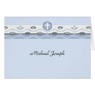 De blauwe Foto van de Harmonie dankt u Notecard Notitiekaart