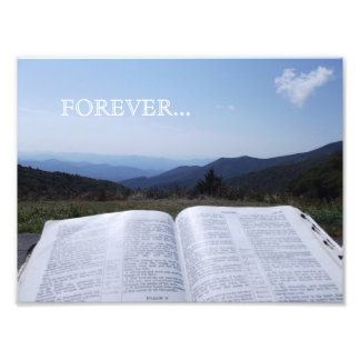 De blauwe Foto van het Heilige Schrift van de Berg Foto Afdruk