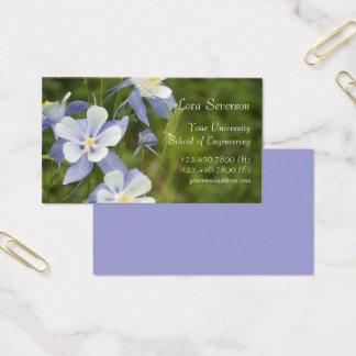 De blauwe Gediplomeerde van de Bloemen van de Visitekaartjes