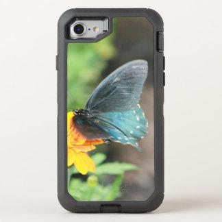 De blauwe Gele Coreopsis Zomer van de Vlinder OtterBox Defender iPhone 7 Hoesje