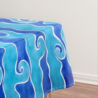 De Blauwe Golven van Aqua Tafelkleed