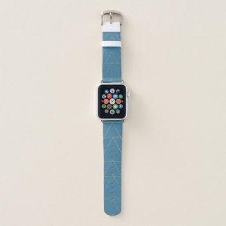 De blauwe & Gouden Band van het Horloge van Apple