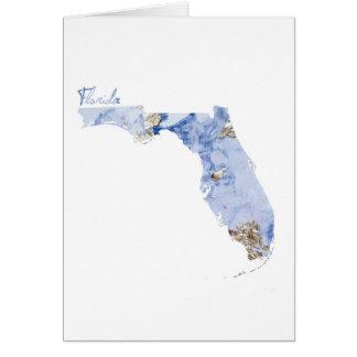 De blauwe & Gouden Kaart van de Staat van Florida