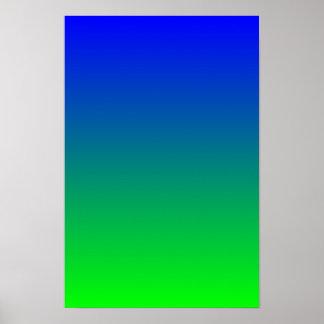 De blauwe Gradiënt van het Limoen Poster