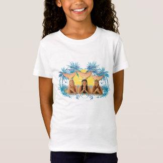 De Blauwe Grafische Palm van de groep T Shirt