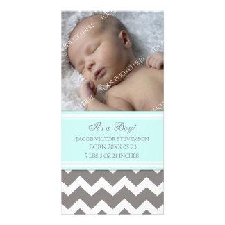 De blauwe Grijze Aankondiging van de Geboorte van  Fotokaart Sjabloon