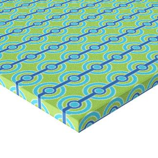De blauwe/Groene druk van het de douanecanvas van  Stretched Canvas Afdrukken