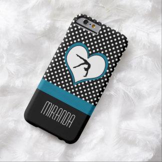 De blauwe Gymnastiek van de Stip met hart Barely There iPhone 6 Hoesje