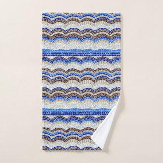 De blauwe Handdoek van de Hand van het Mozaïek
