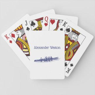 De blauwe het Roeien Sporten van het Water van het Pokerkaarten