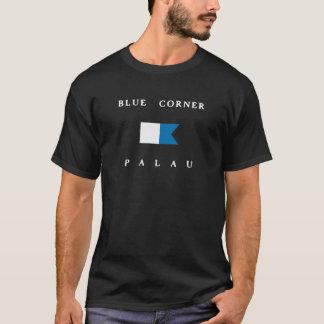 De blauwe Hoek Alpha- Palau duikt Vlag T Shirt