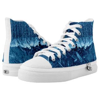 De Blauwe Hoge Hoogste Unisex-Tennisschoen van de High Top Schoenen