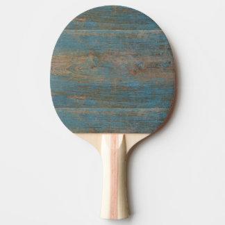 De blauwe Houten Textuur van het Strand Faux Tafeltennis Bat
