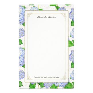 De blauwe Huwelijken van het Kant van de Hydrangea Briefpapier