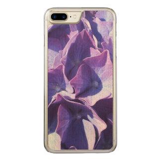 De blauwe Hydrangea hortensia bloeit dicht omhoog Carved iPhone 7 Plus Hoesje