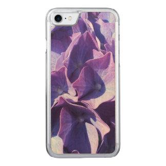 De blauwe Hydrangea hortensia bloeit dicht omhoog Carved iPhone 8/7 Hoesje
