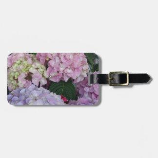 De blauwe Hydrangea hortensia's van de Lavendel Kofferlabel