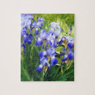 """De """"blauwe Indrukken van de Iris """" Legpuzzel"""