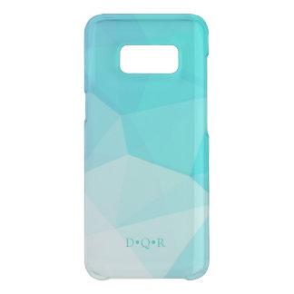 De blauwe Initialen van de Douane van de Matrijs Get Uncommon Samsung Galaxy S8 Hoesje