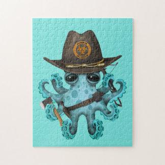 De blauwe Jager van de Zombie van de Octopus van Puzzel