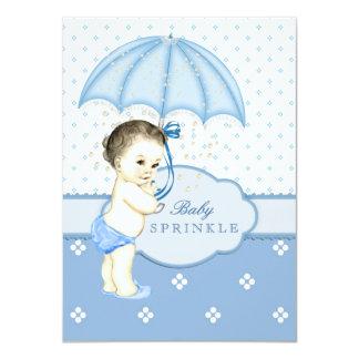 De blauwe Jongen bestrooit Baby shower Kaart