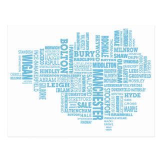 De blauwe kaart van het Type van Groter Manchester