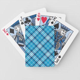 De blauwe Kaarten van het Gokken van de Plaid