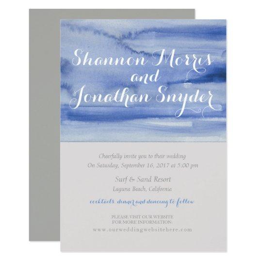 De blauwe Kalligrafie van de Uitnodiging van het