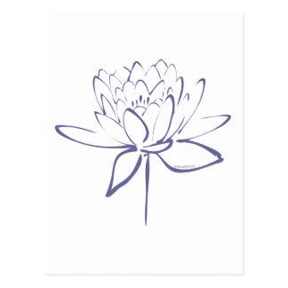 (De Blauwe) Kalligrafie van Lotus Wenskaarten