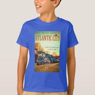 De blauwe Kinder T-shirt van de Trein van de