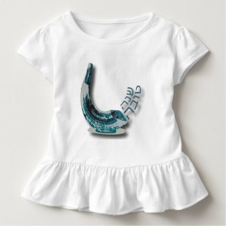 De blauwe Kleding van de Peuter van de Ruche van Kinder Shirts