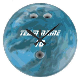 De blauwe klok van de kegelenbal