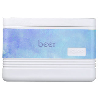 De blauwe Koeler van de Iglo van het Bier van de Igloo Koelbox