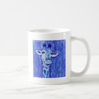 De blauwe kunst Afrikaan van het Portret van de Koffiemok
