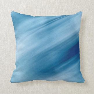 De blauwe Kunst van de Pastelkleur van Watervallen Sierkussen