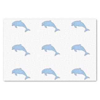 De blauwe levering van de Partij van Dolfijnen 25,4 X 38,1 Cm Zijdepapier