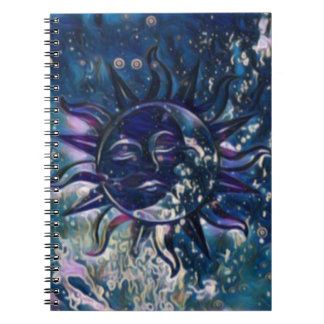 De blauwe Maan van de Zon Notitieboek