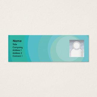 De blauwe Magere Schaduwen van de Cirkel - Mini Visitekaartjes