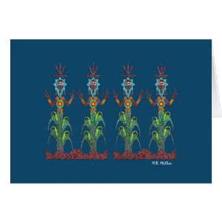 De blauwe Mensen van het Graan, Afbeelding 1a, Briefkaarten 0