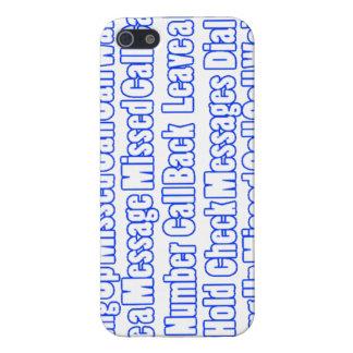 De blauwe Mobiele Dekking van Uitdrukkingen iPhone 5 Cover