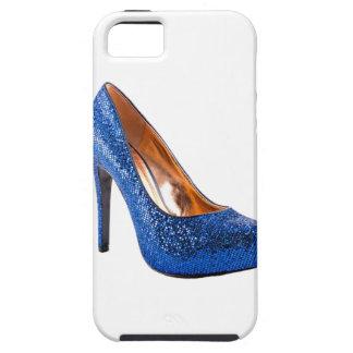 De blauwe Mode van de Schoen van de Hiel van de Tough iPhone 5 Hoesje