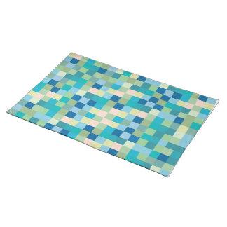 De blauwe Moderne Ontwerper Placemats van het Patr