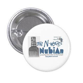 De blauwe n-Woord knoop van Nubian Ronde Button 3,2 Cm
