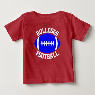 De blauwe Naam/de Tekst & het Aantal van het Team Baby T Shirts