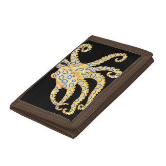 De blauwe Octopus van de Ring op Zwarte