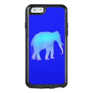 De blauwe Olifant van het Mozaïek OtterBox iPhone 6/6s Hoesje