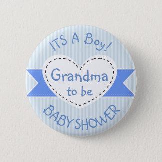 De blauwe Oma van de Knoop van het Baby shower om Ronde Button 5,7 Cm
