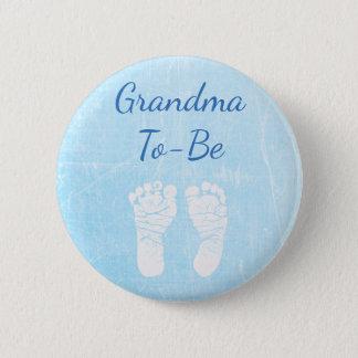 De blauwe Oma van het Baby om de Knoop van het Ronde Button 5,7 Cm